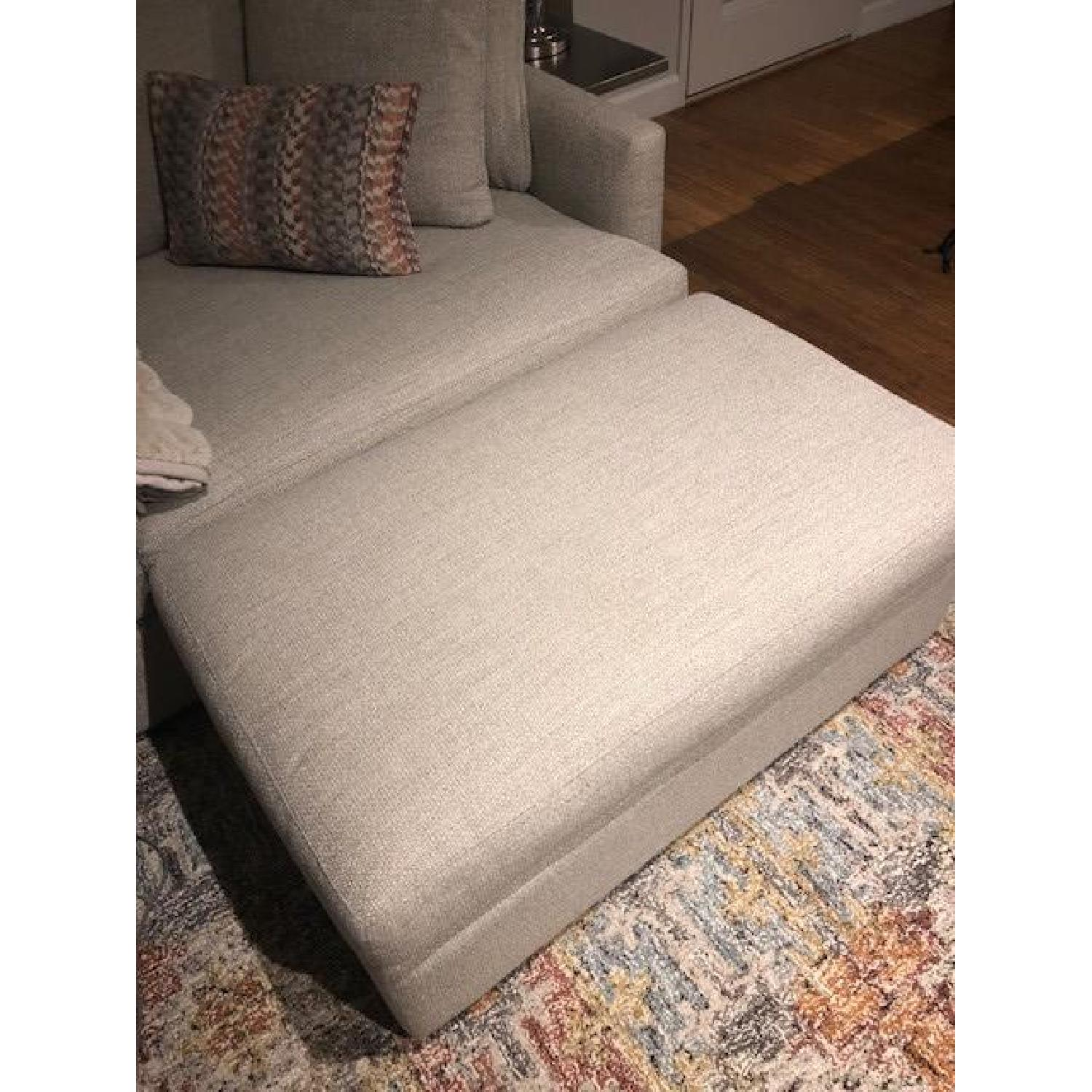 Crate & Barrel Lounge II Ottoman and a Half w/ Casters - image-4