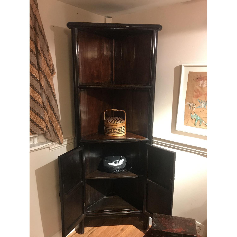 Antique Refurbished Corner Cabinets - image-1