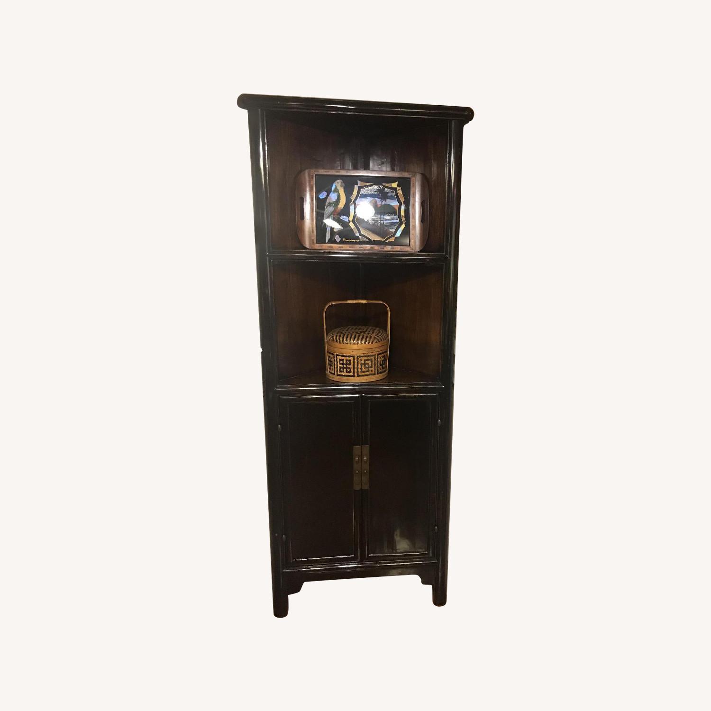 Antique Refurbished Corner Cabinets - image-0