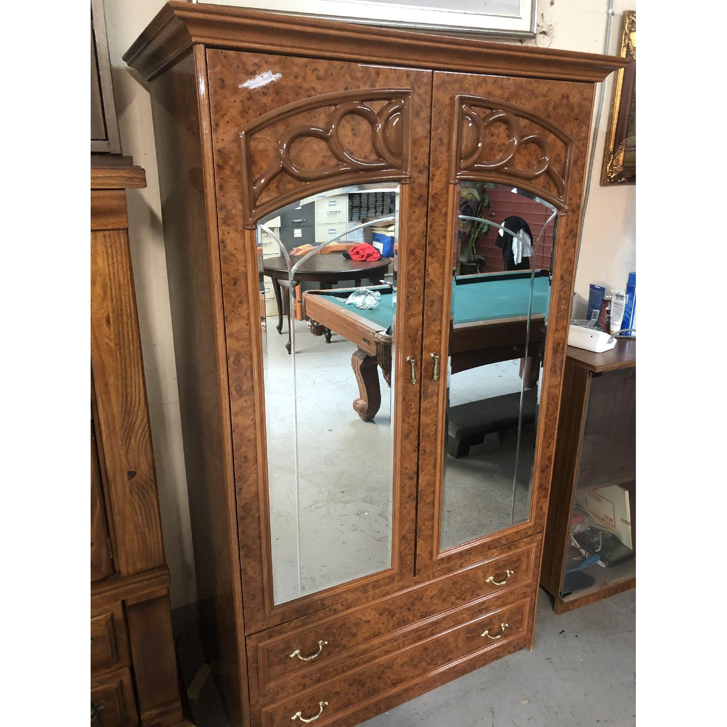 Vintage High Gloss Armoire - image-1