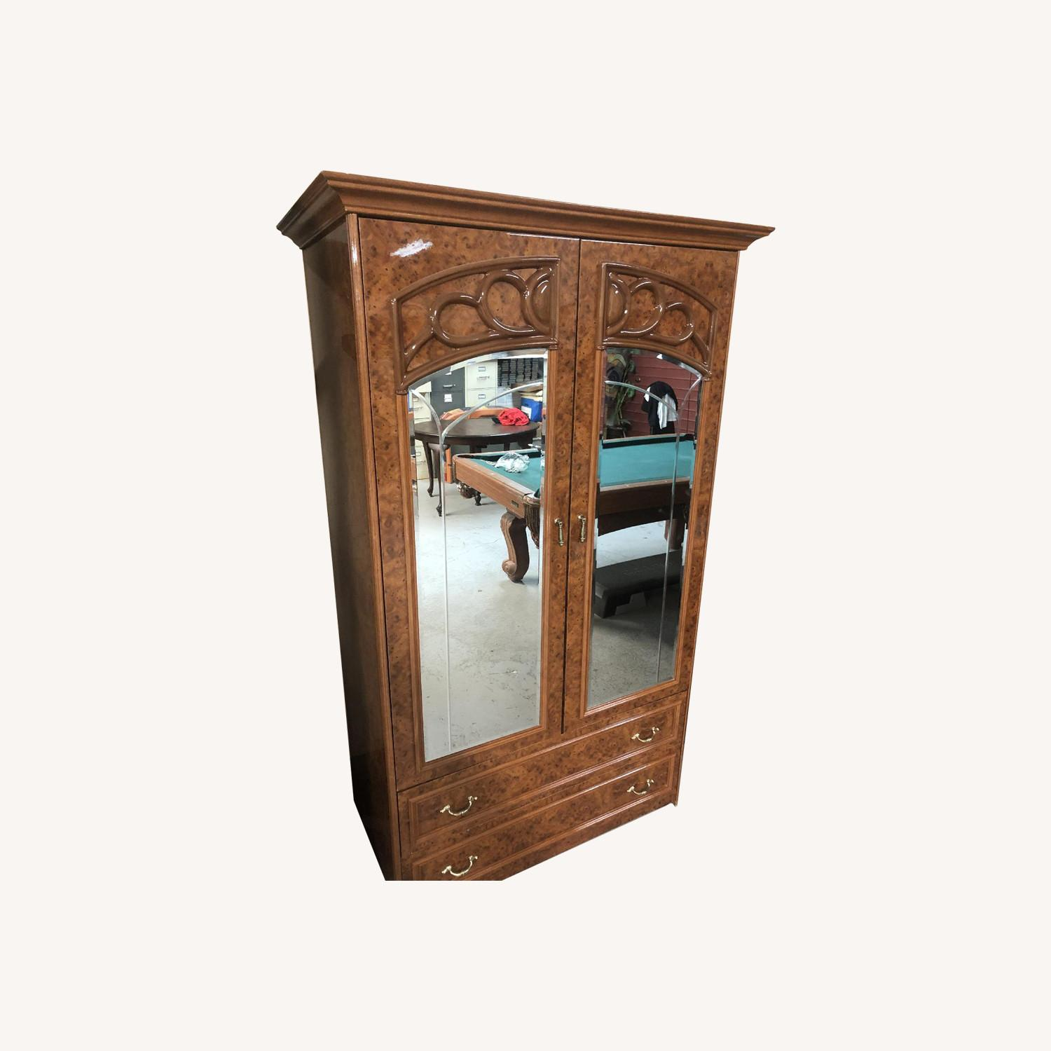 Vintage High Gloss Armoire - image-0