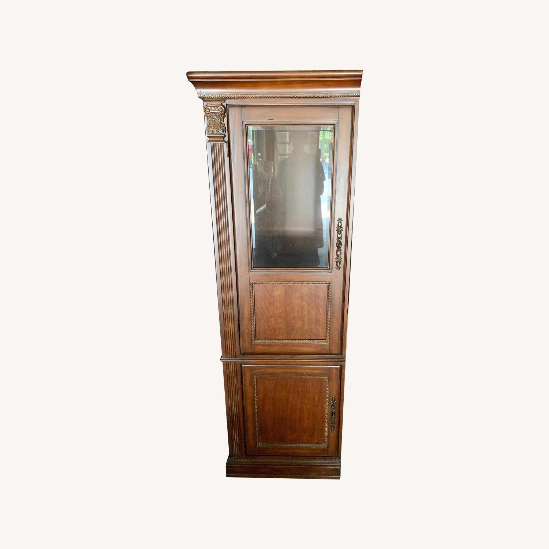 Curio Cabinet w/ Media Storage - image-0