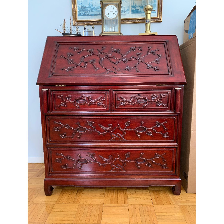 Oriental Red Wood Secretary Desk - image-1