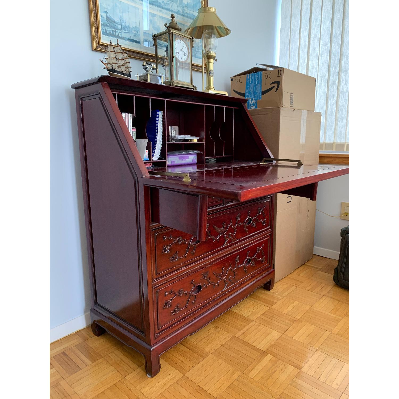 Oriental Red Wood Secretary Desk - image-2