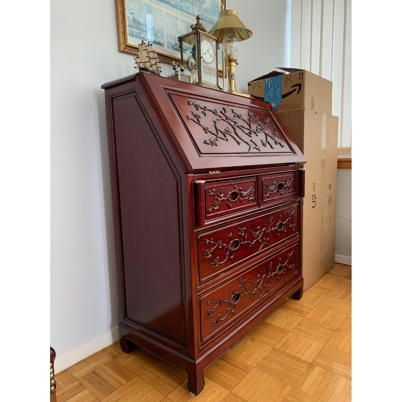 Oriental Red Wood Secretary Desk - image-3