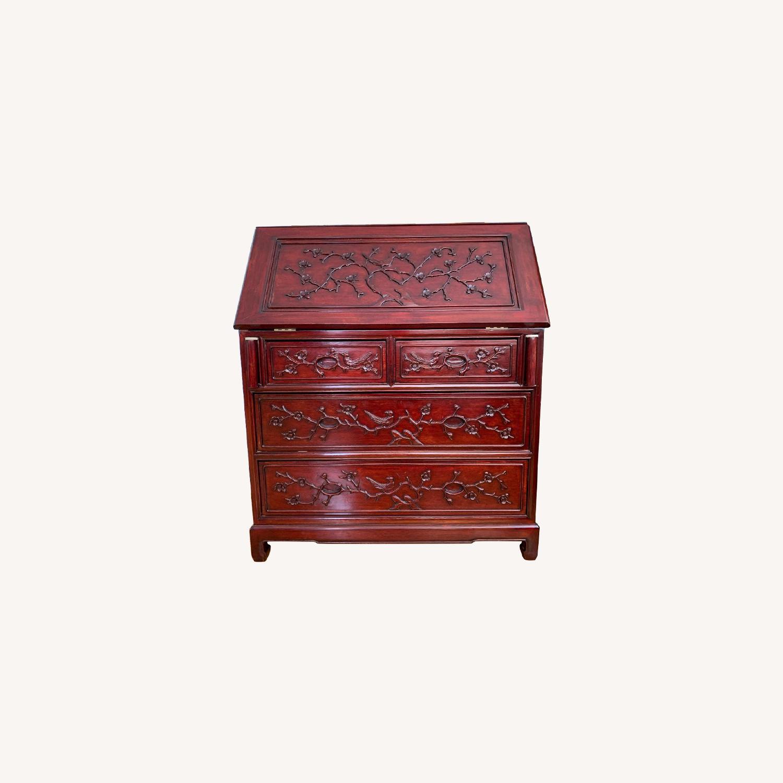 Oriental Red Wood Secretary Desk - image-0