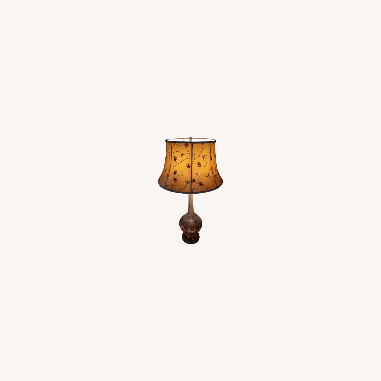 Vintage Blown Glass Table Lamp