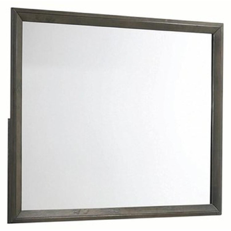 Mirror in Dark Grey Finish Frame - image-0