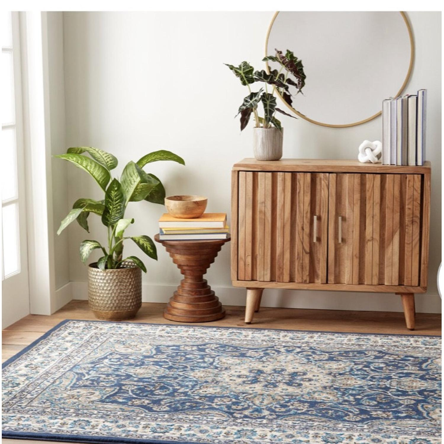Charlton Home Arend Blue/Ivory Area Rug - image-1