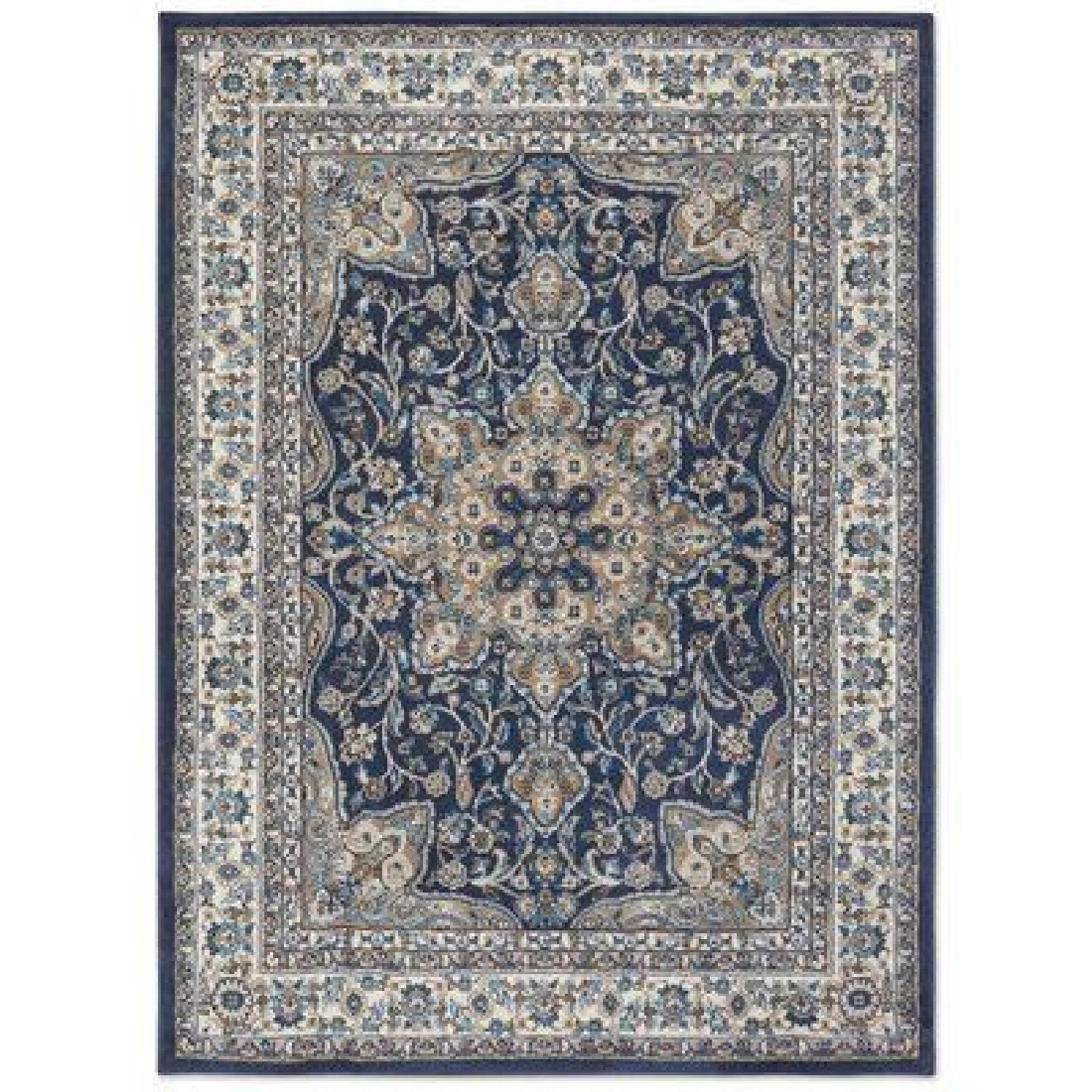 Charlton Home Arend Blue/Ivory Area Rug - image-0