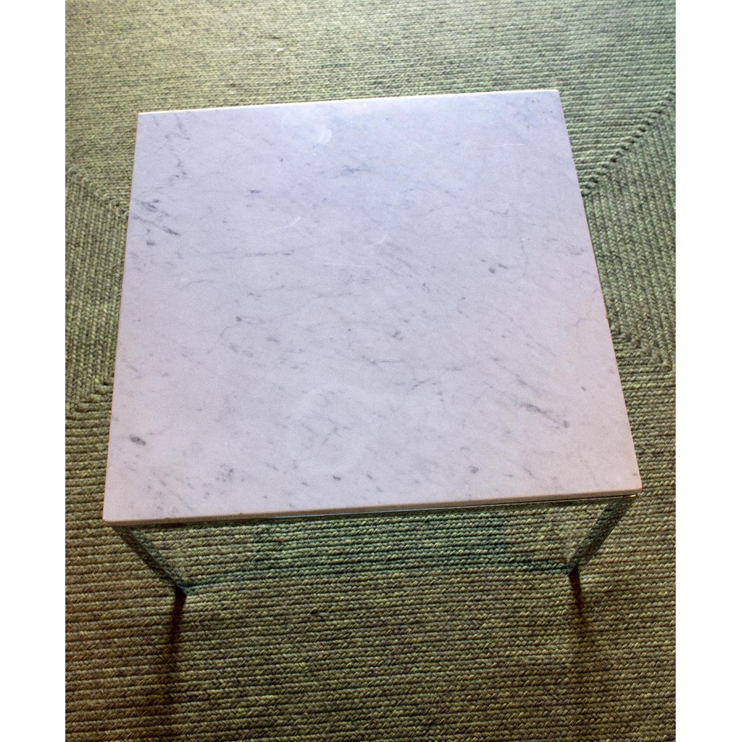 Vintage Mid Century Marble Top Side Table - image-1