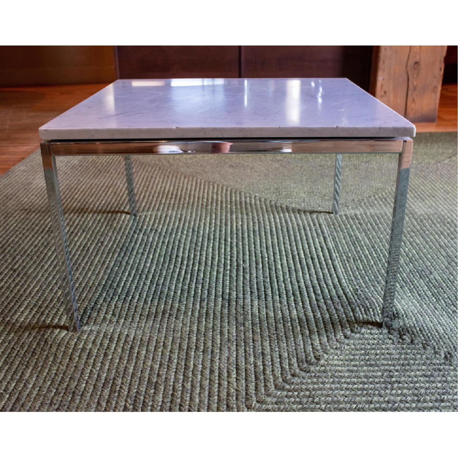 Vintage Mid Century Marble Top Side Table - image-4