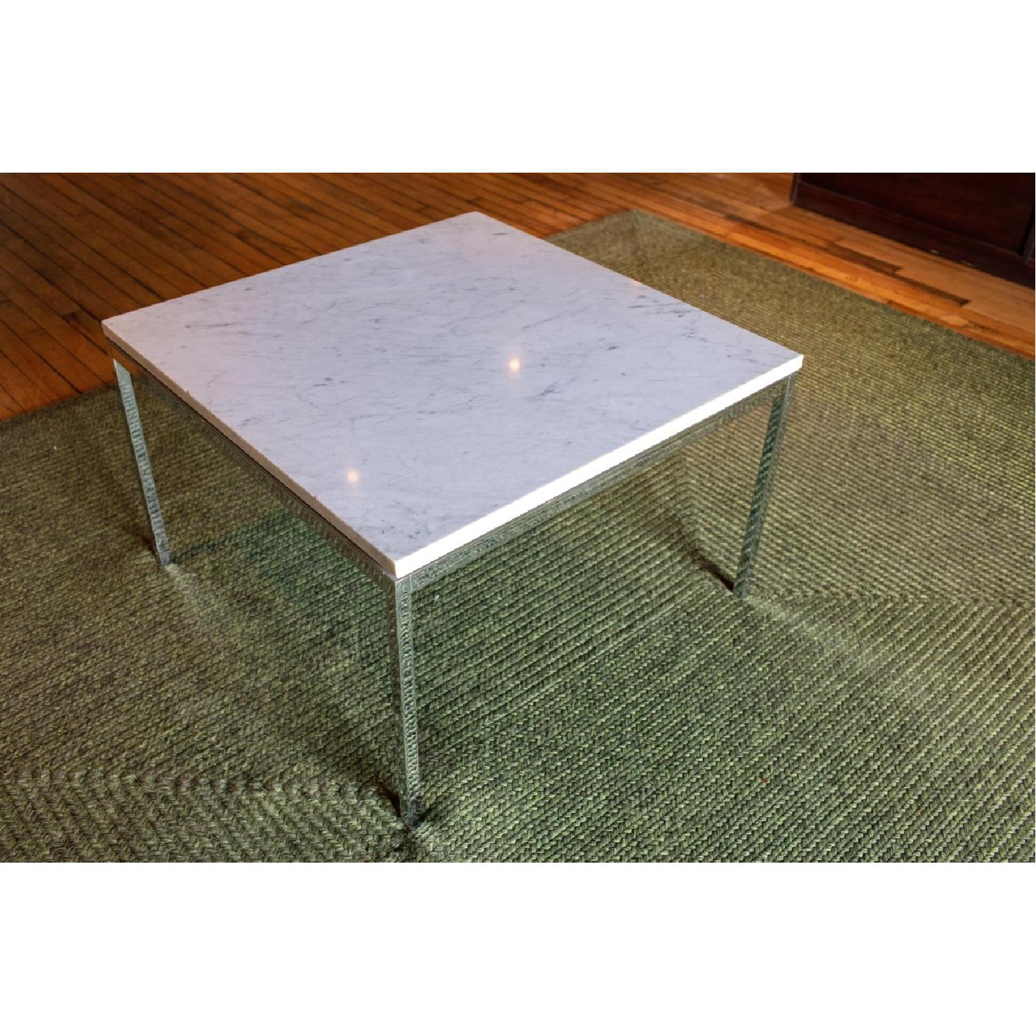Vintage Mid Century Marble Top Side Table - image-3