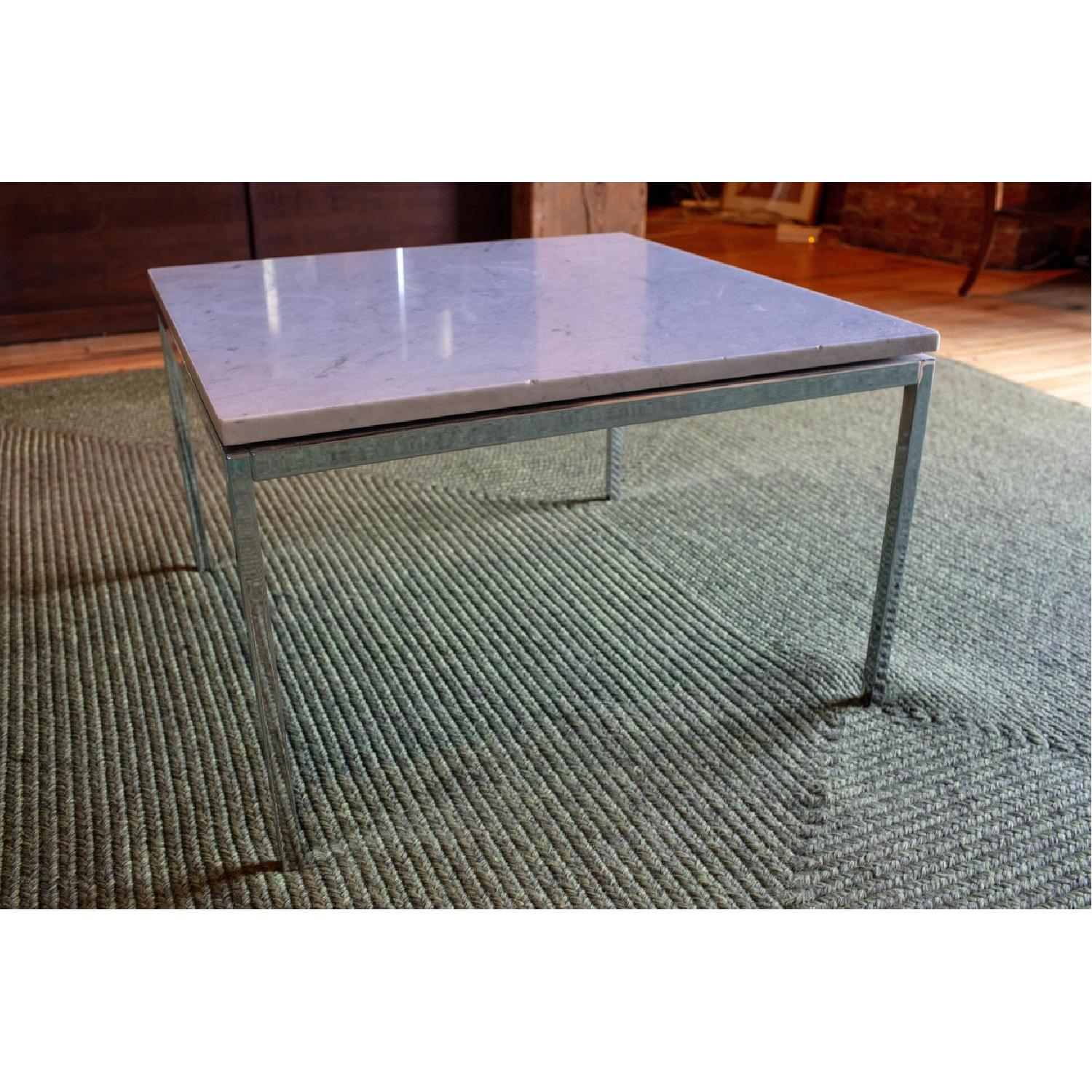 Vintage Mid Century Marble Top Side Table - image-2