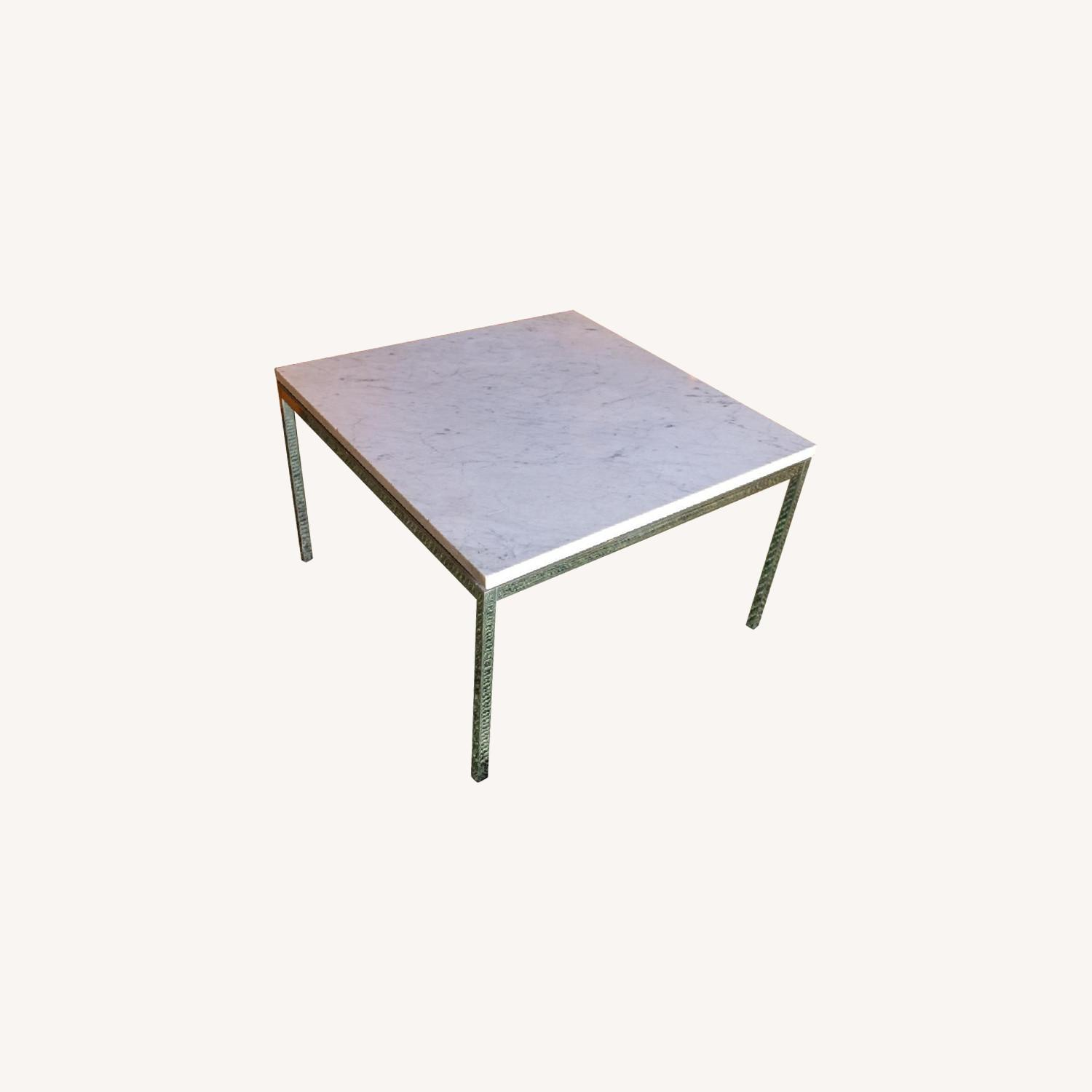 Vintage Mid Century Marble Top Side Table - image-0