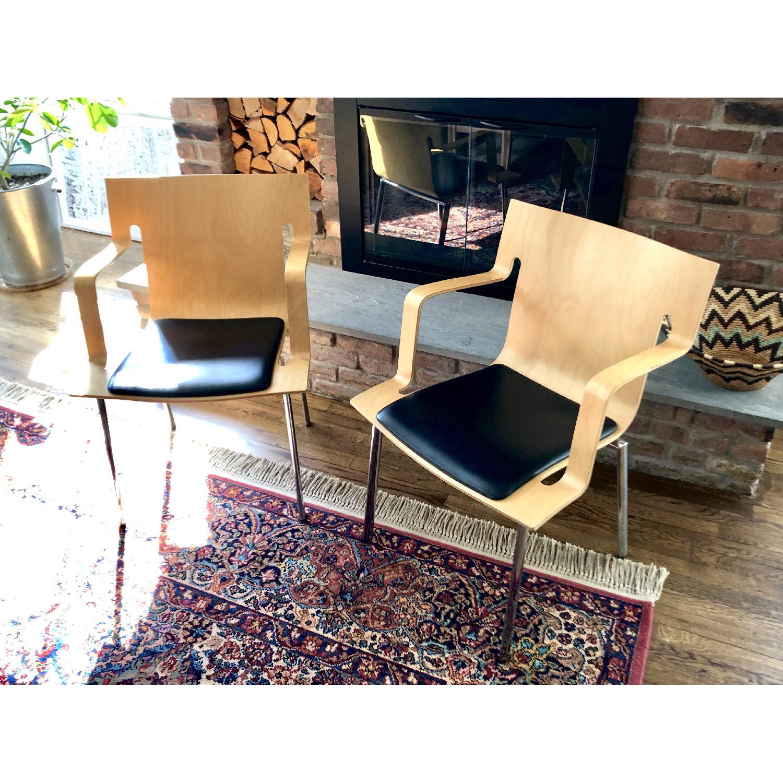 Lammhults Vintage 1990s Mobel Swedish Armchairs - image-1