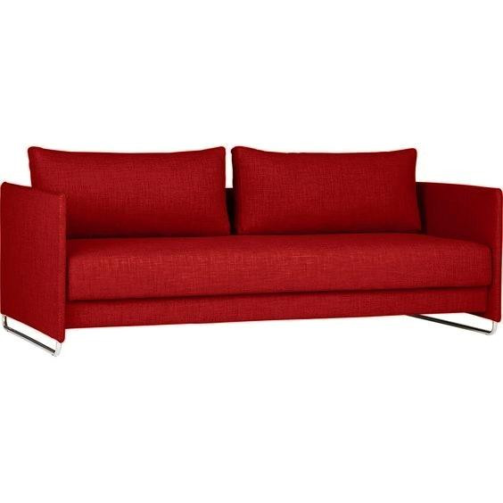 CB2 Tandom Red Sleeper Sofa