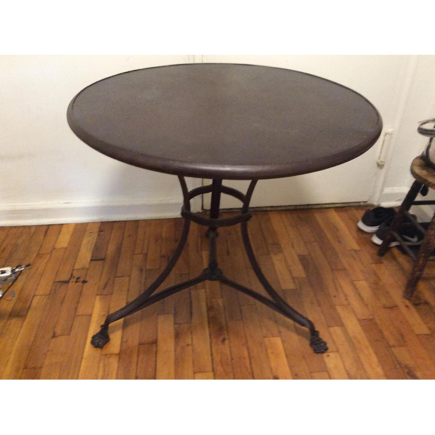 Restoration Hardware French Brasserie Lions Foot Table - image-1