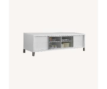 Raymour & Flanigan White TV Console