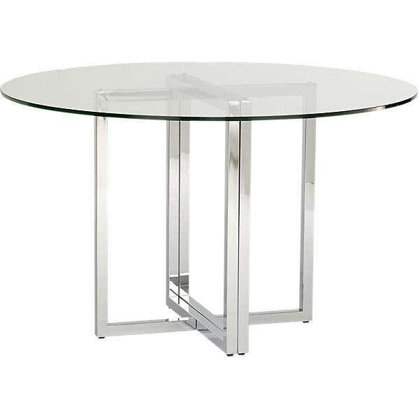 CB2 Chrome Dining Table