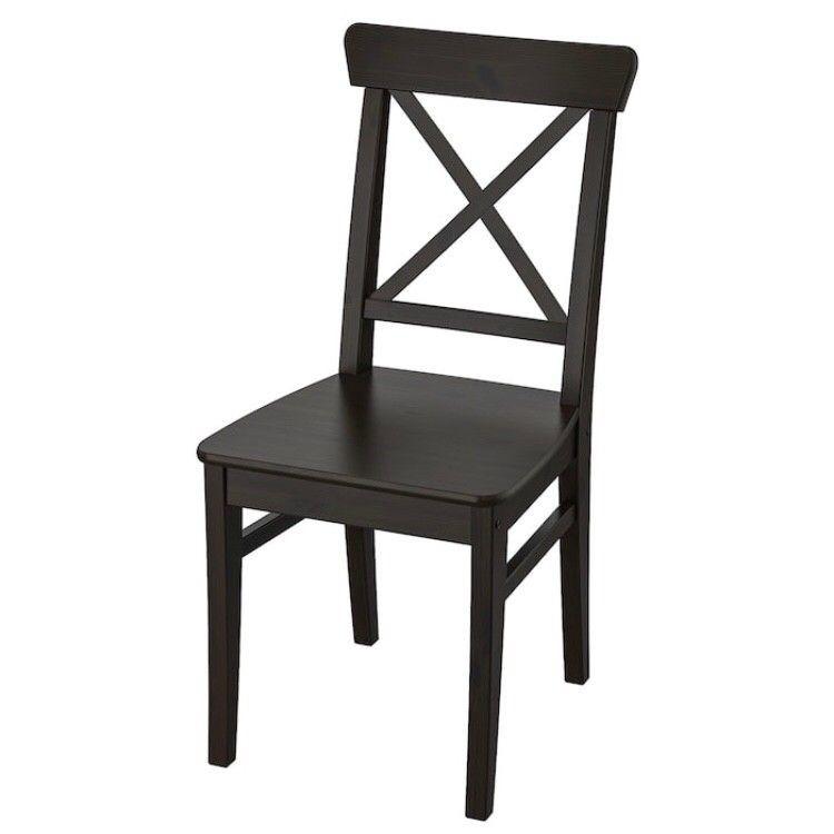 Ikea Black Wood Dining Chairs