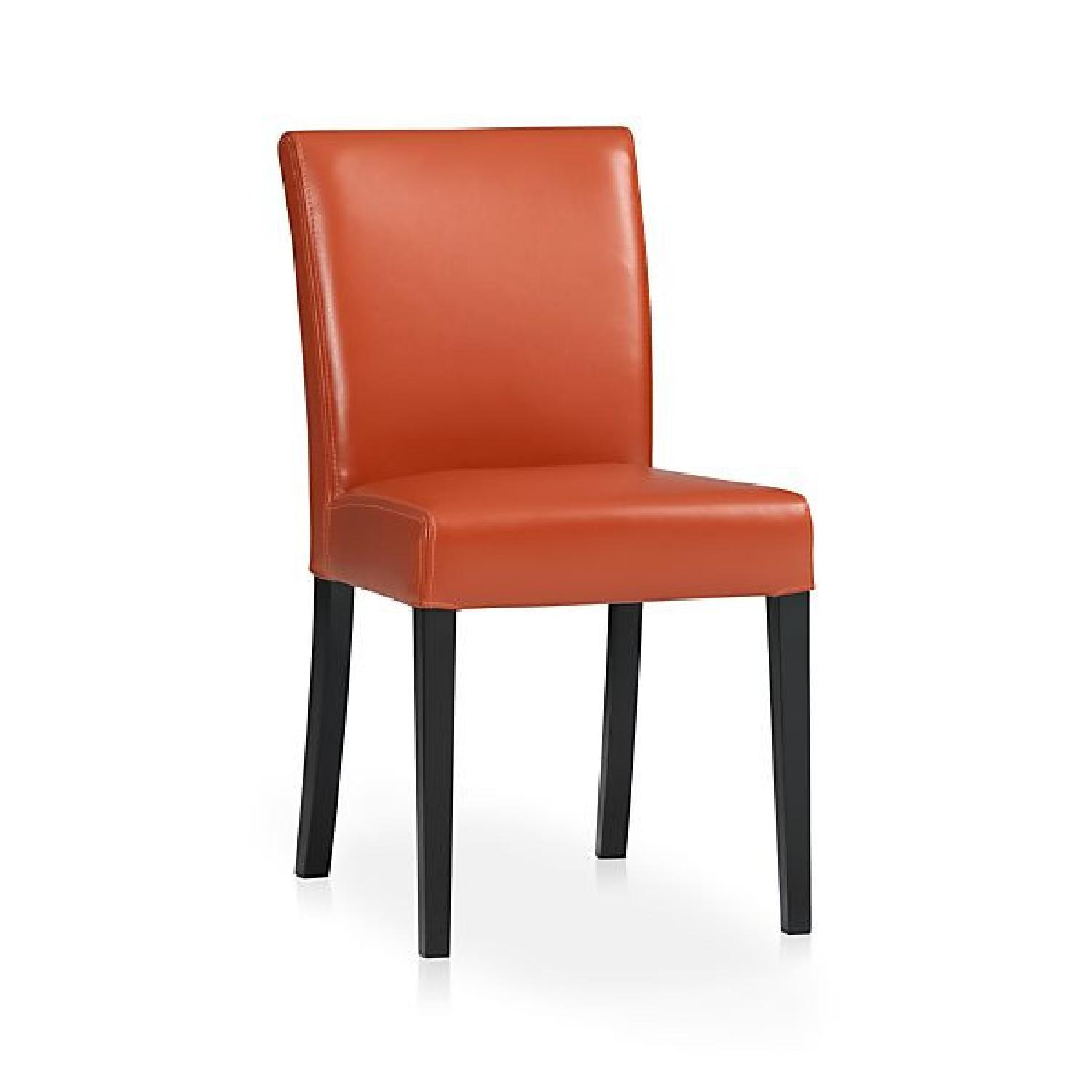 Crate & Barrel Lowe Persimmon Dining Chairs - image-0