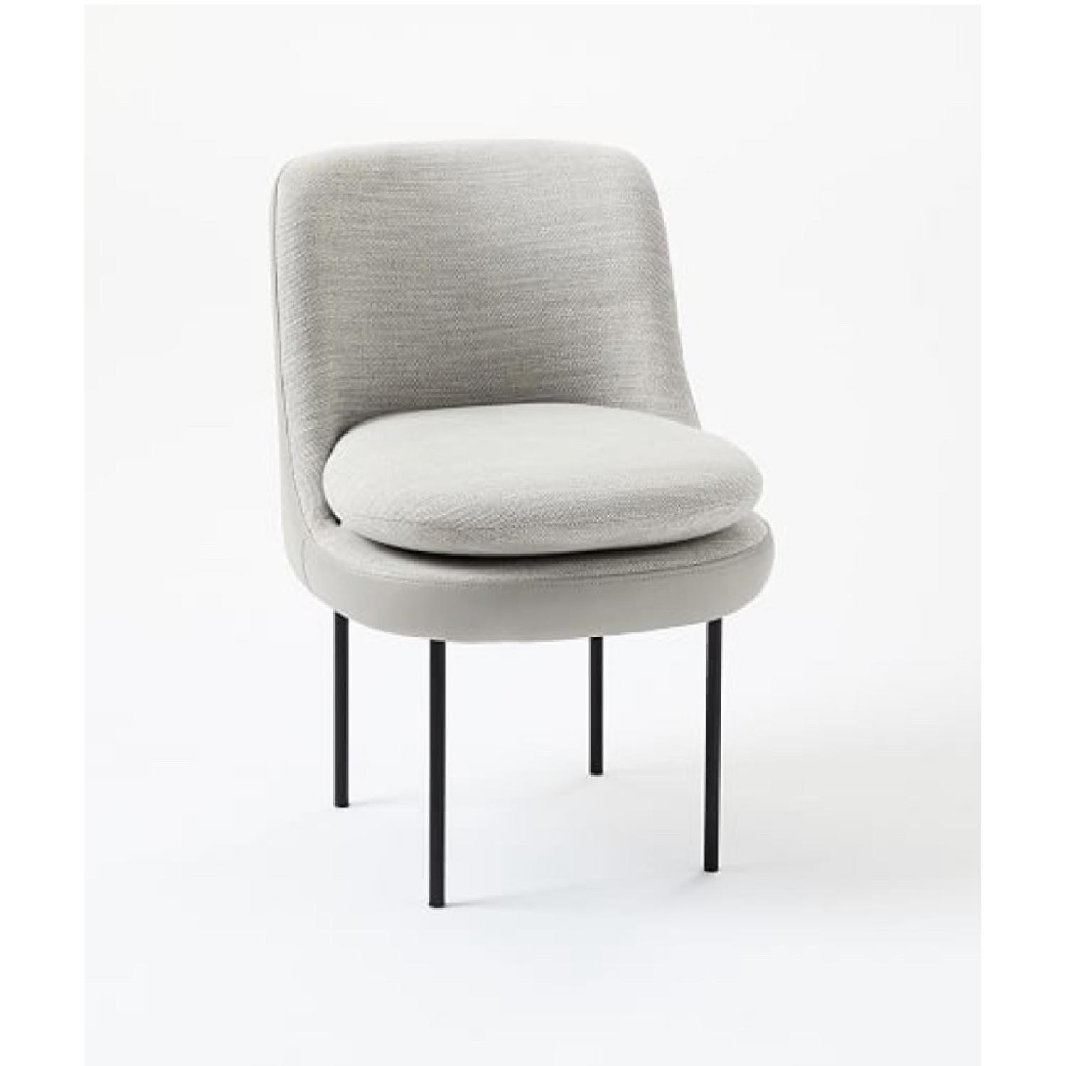 West Elm Modern Curved Leather Back Dining Chair - image-2