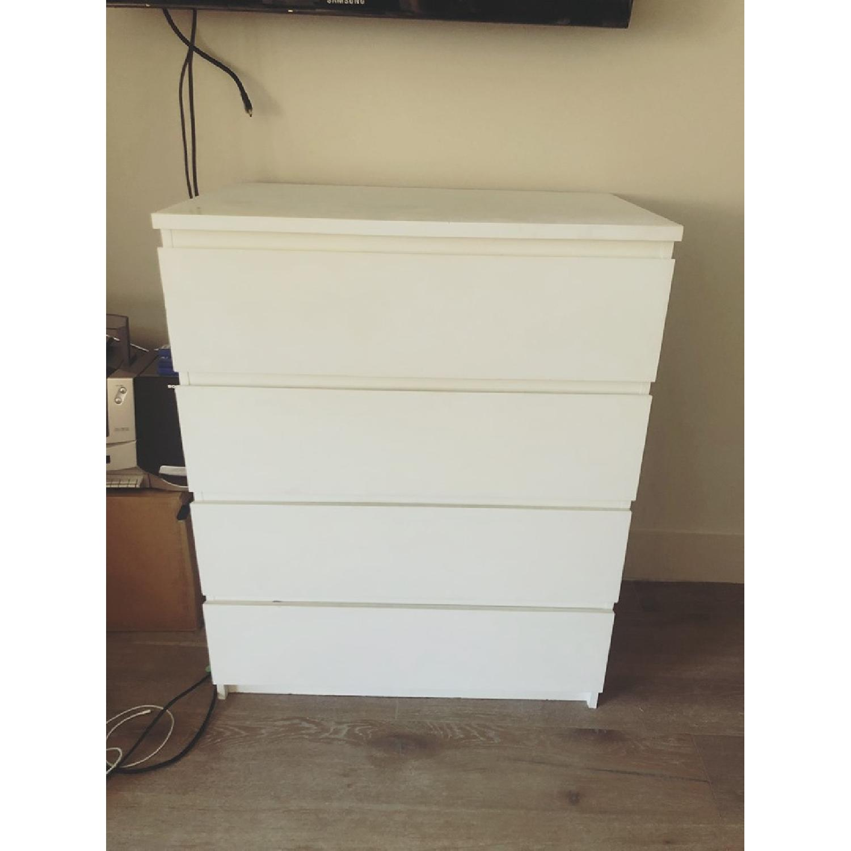 Ikea Malm 4-Drawer White Chest - image-1