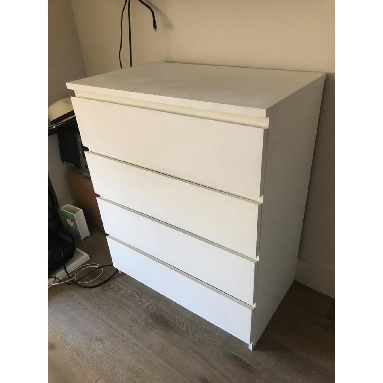 Ikea Malm 4-Drawer White Chest - image-2