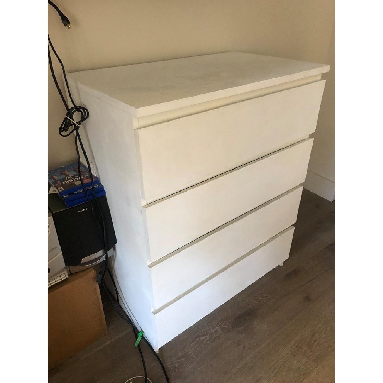 Ikea Malm 4-Drawer White Chest - image-3