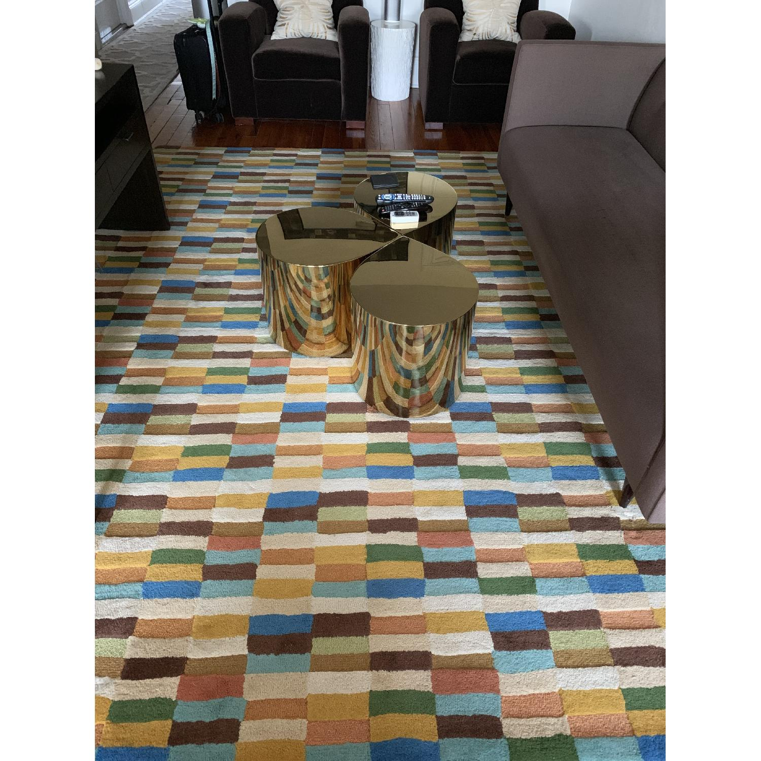Company C Multi-Color Geometric Pattern Wool Rug - image-2