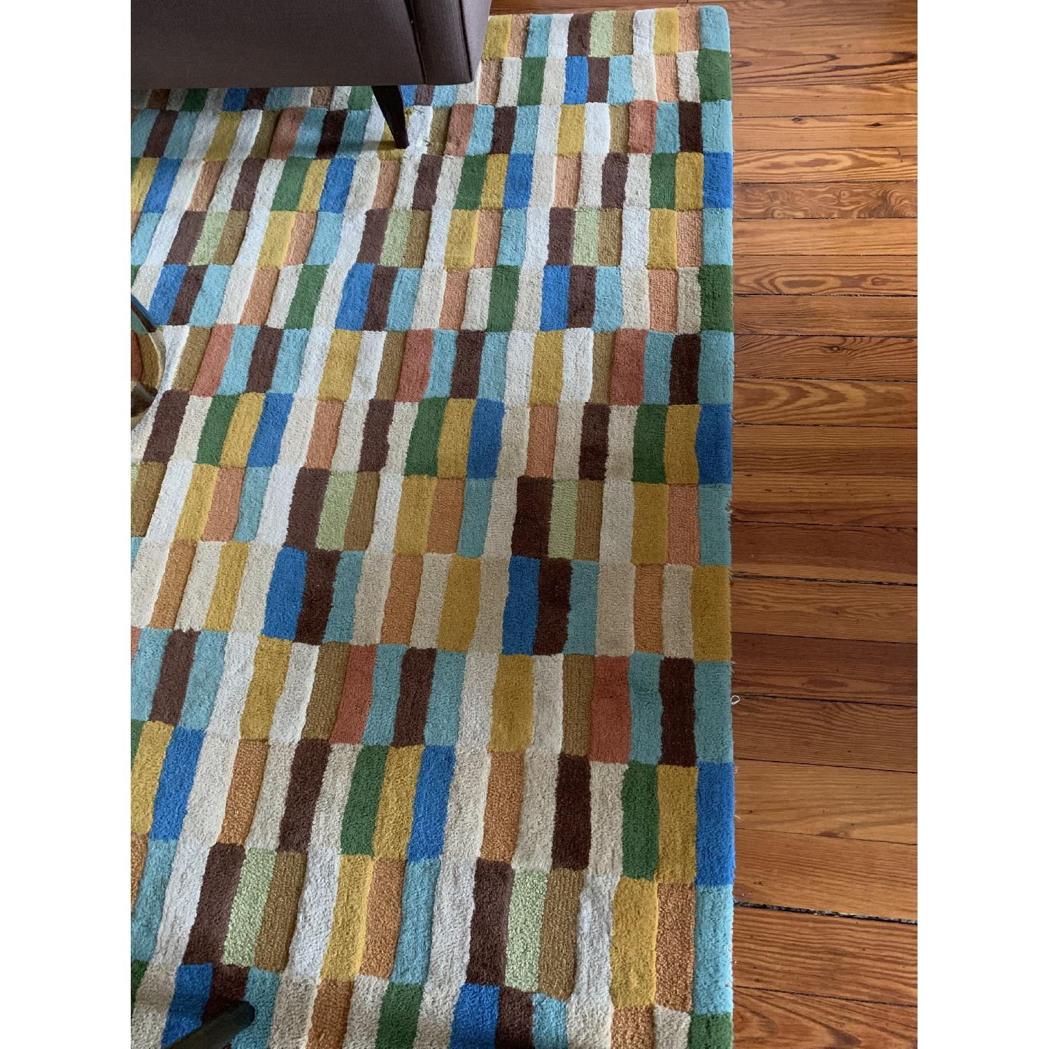 Company C Multi-Color Geometric Pattern Wool Rug - image-3