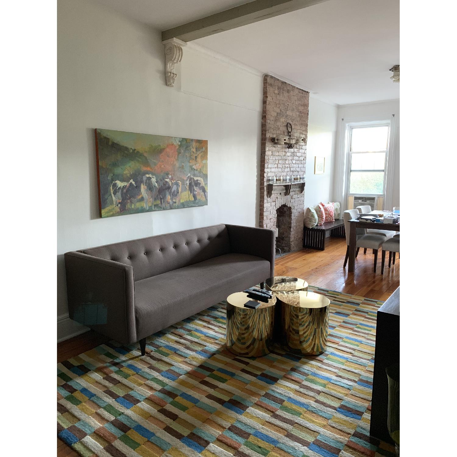 Company C Multi-Color Geometric Pattern Wool Rug - image-4