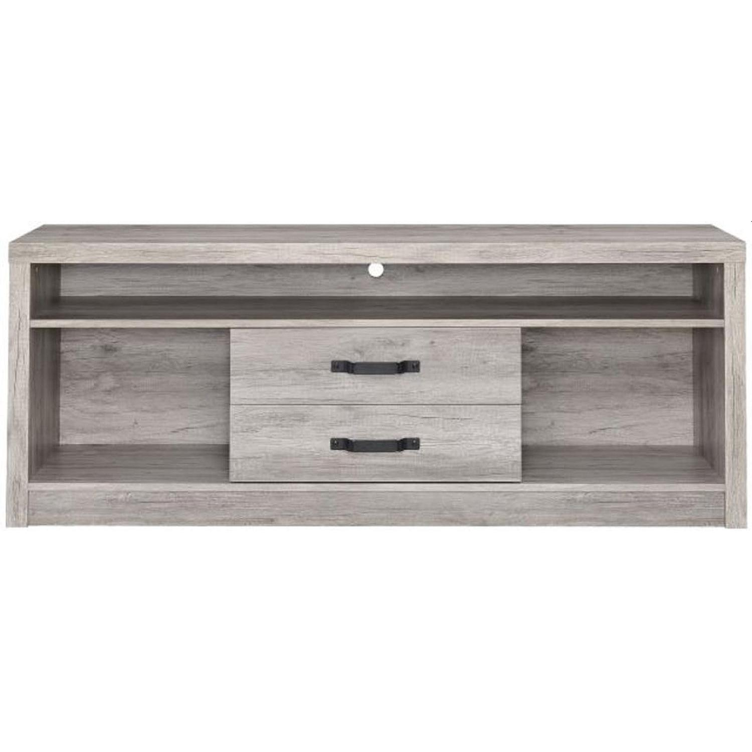TV Stand In Rustic Oak Finish w/ 2 Cabinets & 2 Drawers - image-20