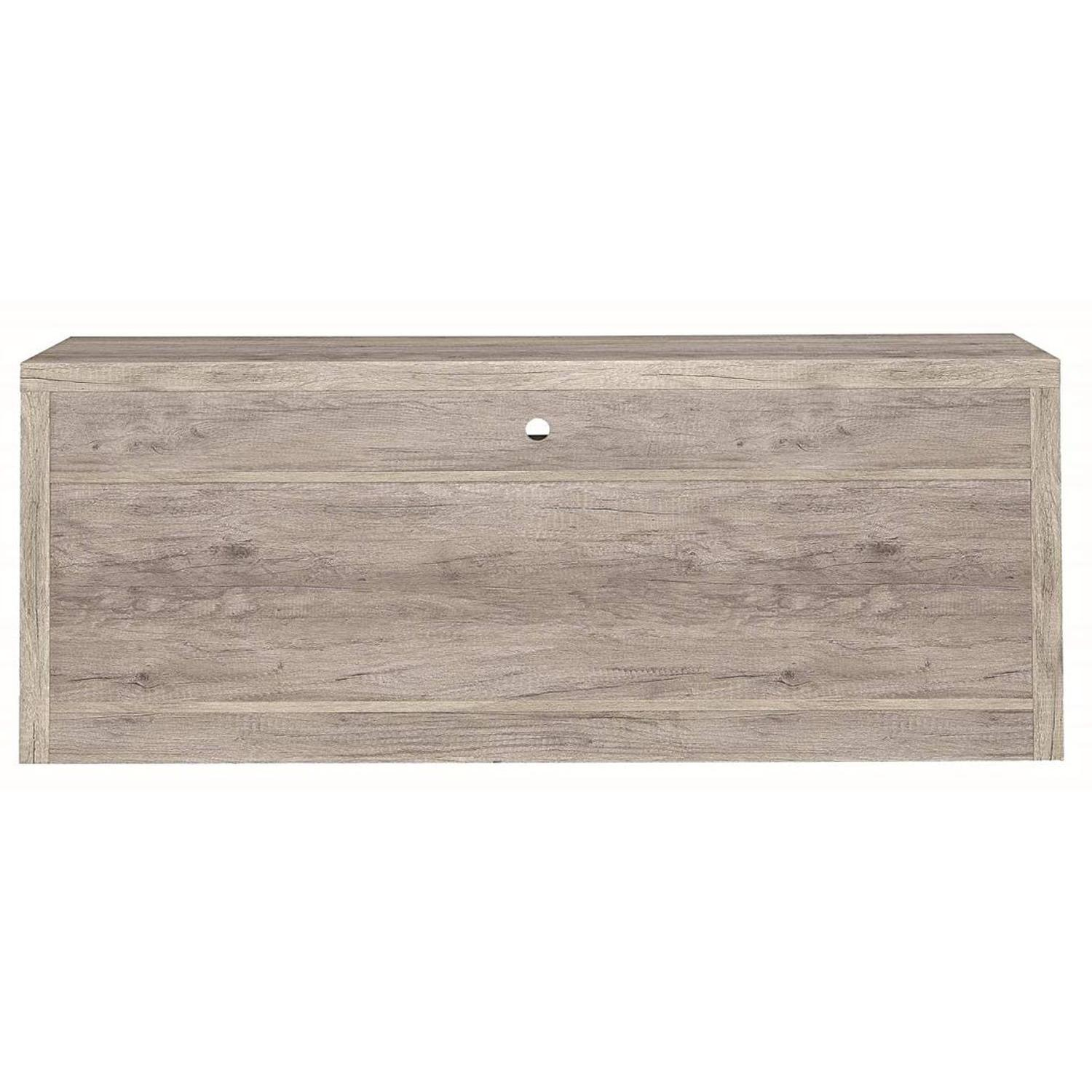 TV Stand In Rustic Oak Finish w/ 2 Cabinets & 2 Drawers - image-19