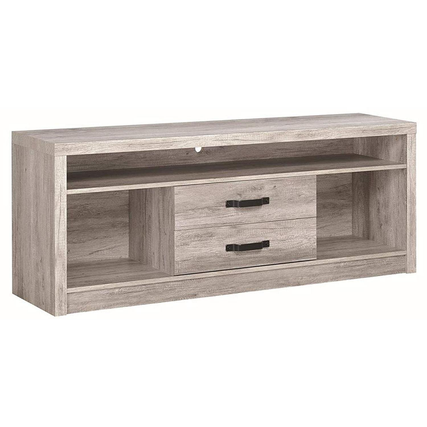 TV Stand In Rustic Oak Finish w/ 2 Cabinets & 2 Drawers - image-23