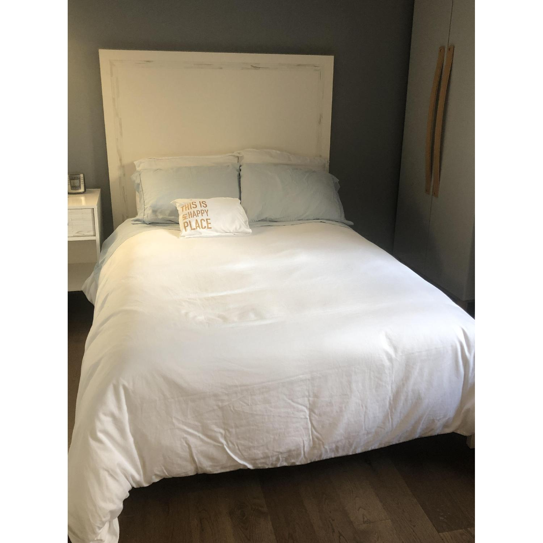 West Elm Wood Bed Frame w/ Headboard - image-4