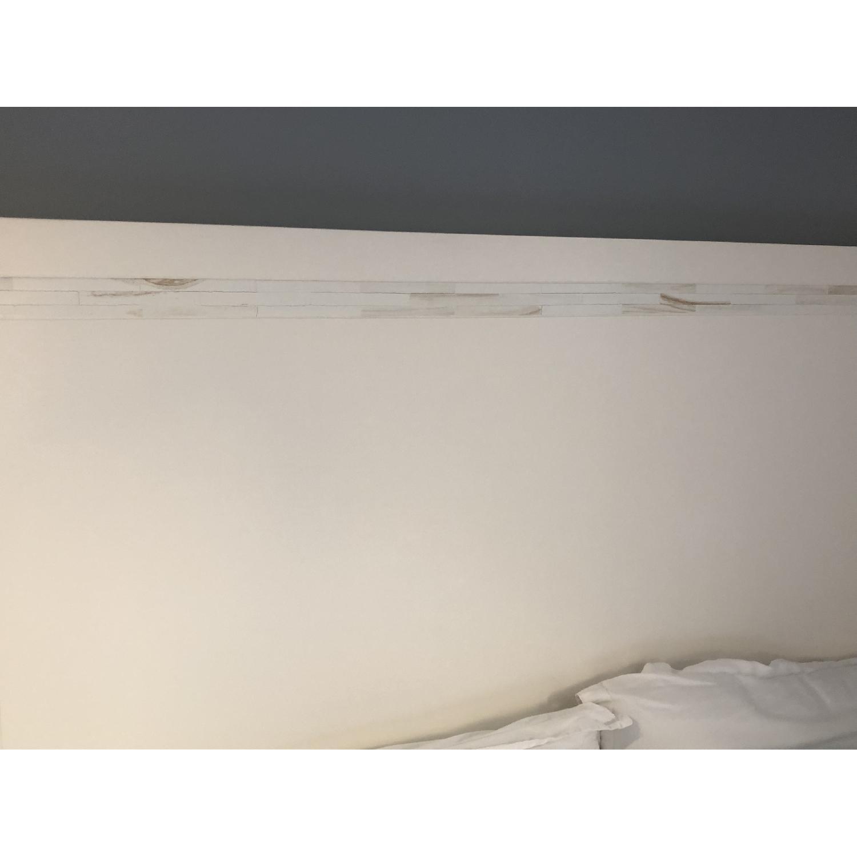 West Elm Wood Bed Frame w/ Headboard - image-2