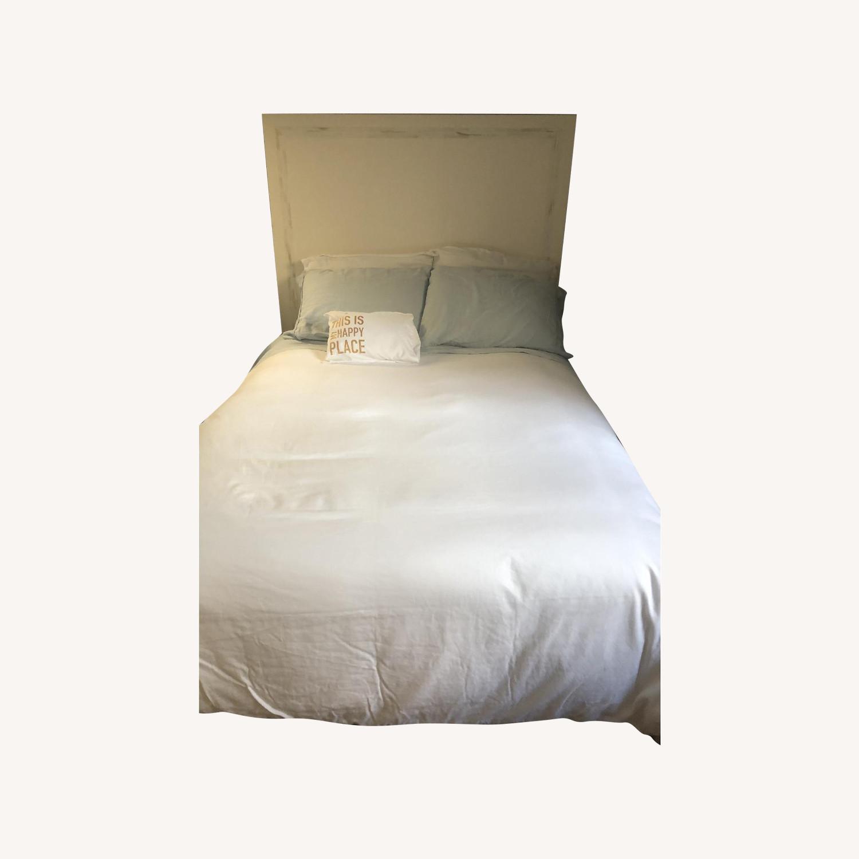 West Elm Wood Bed Frame w/ Headboard - image-0