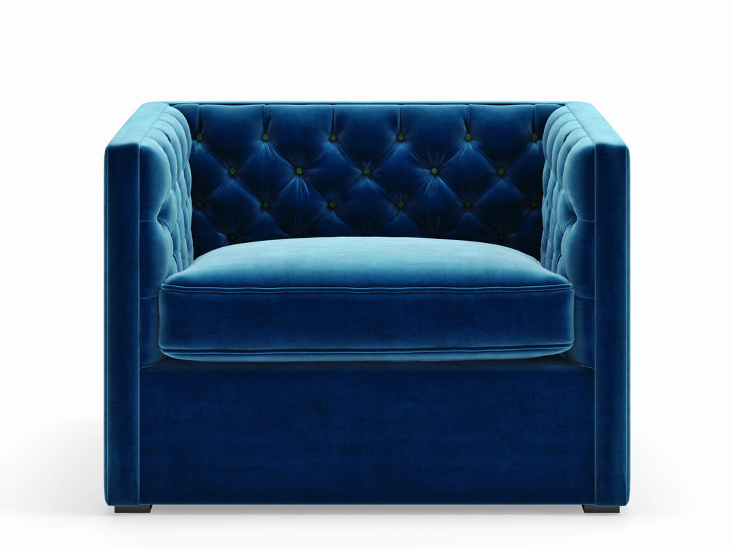 Canvas Home Blue Velvet Chair