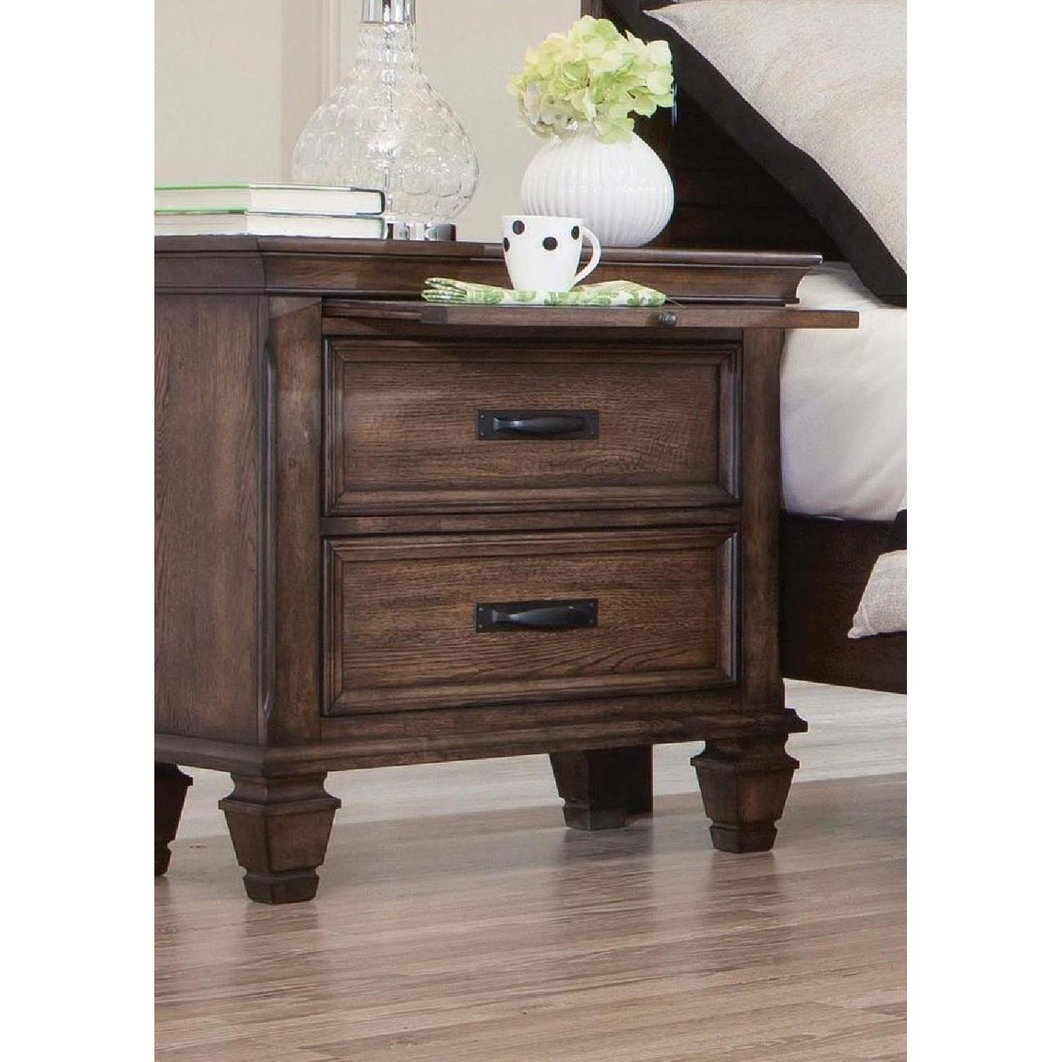 Glam Style TV Console w/ Mirror Accent - image-15