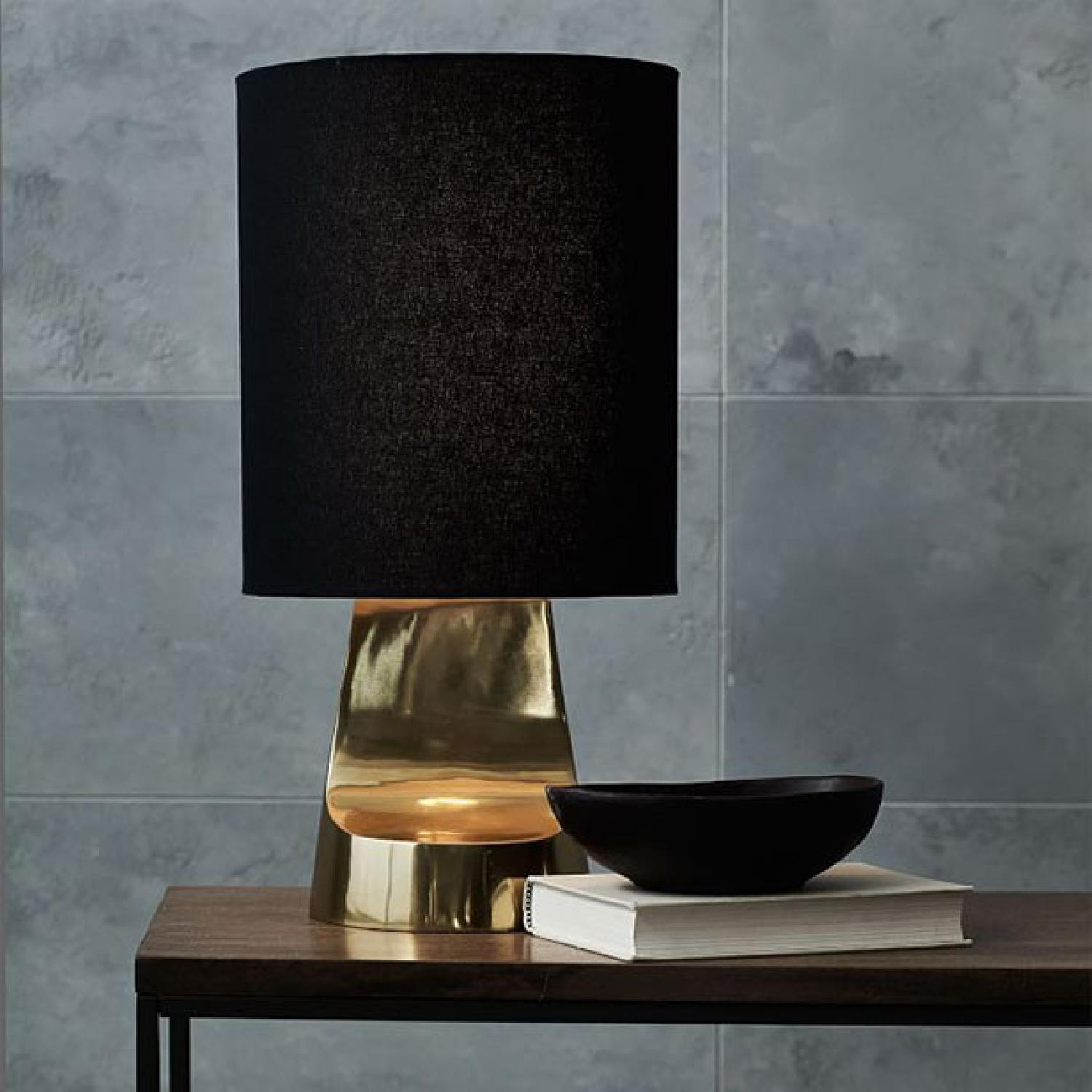 West Elm Small Sculptural Metal Table Lamp - image-1