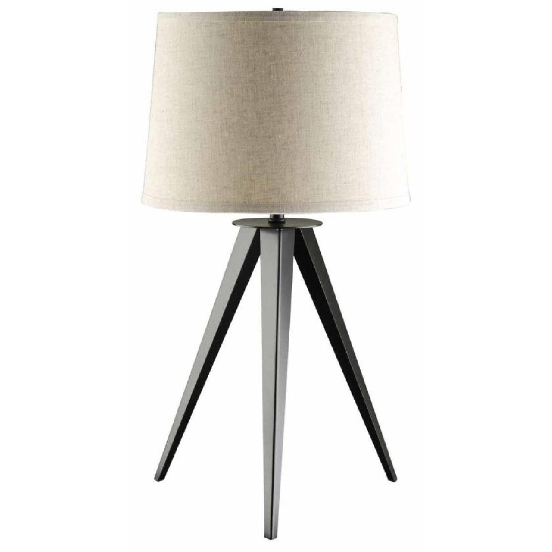 Mid Century Style Modern Table Lamp w/ Tripod Style Base - image-0