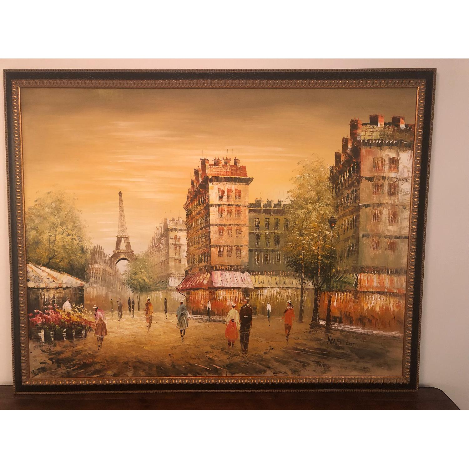 Framed Paris Painting - image-1