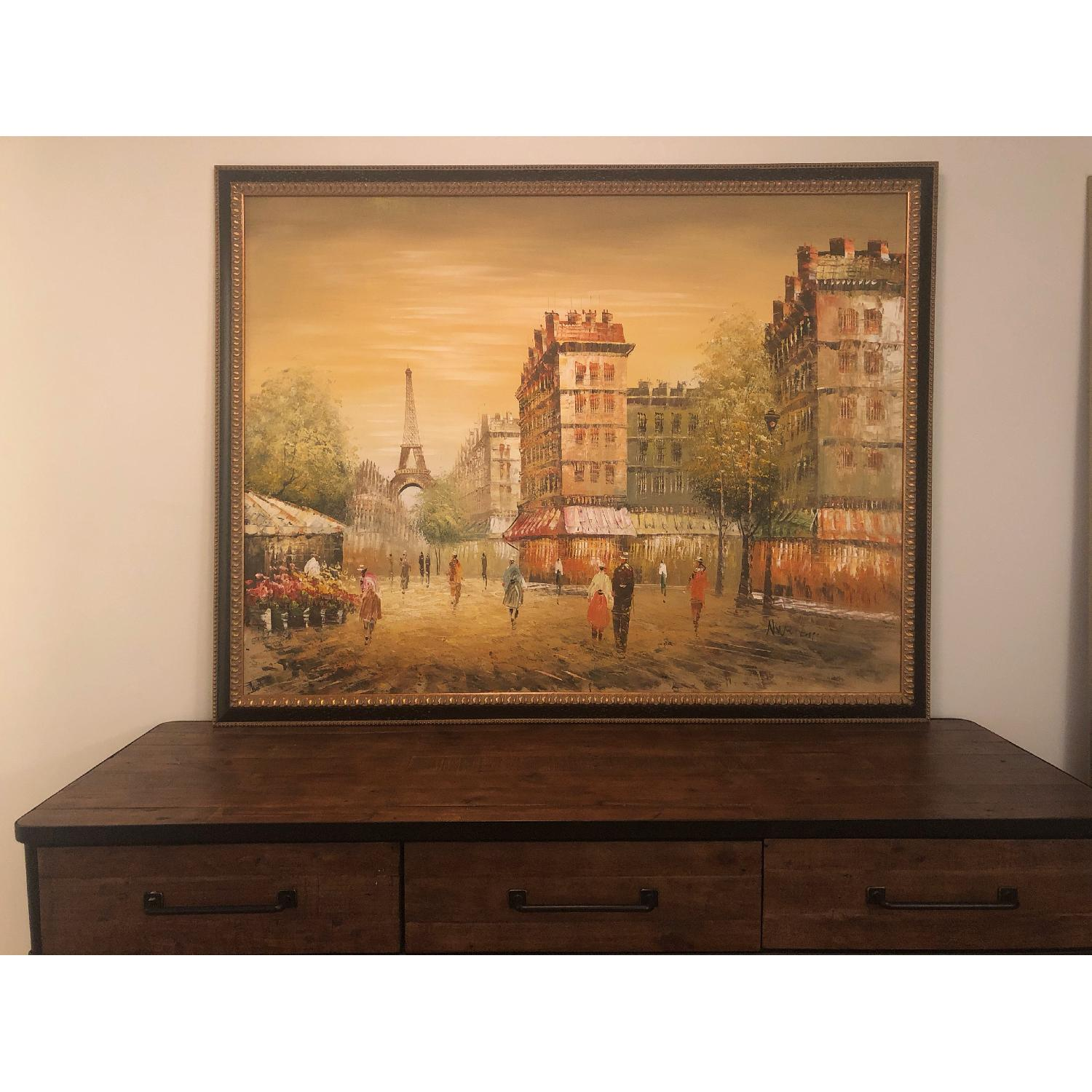 Framed Paris Painting - image-2