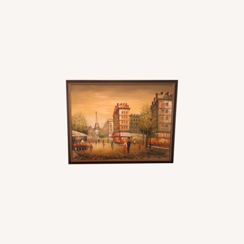 Framed Paris Painting