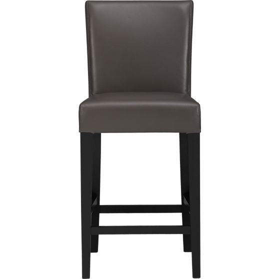 Crate & Barrel Lowe Leather Counter Stools