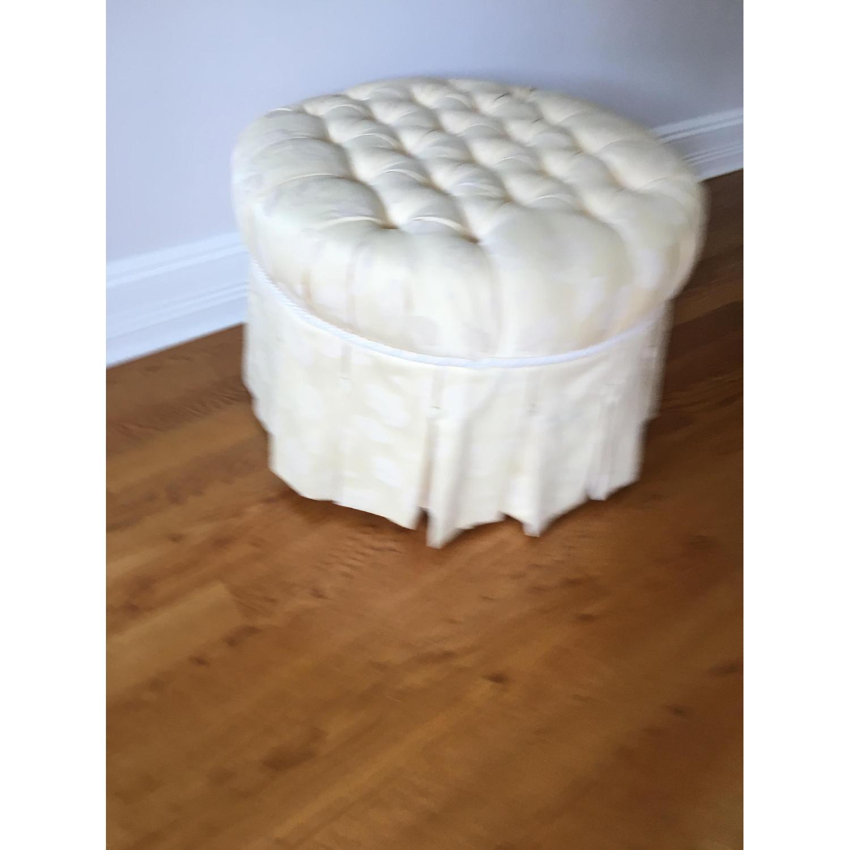 Custom Upholstered Ottoman/Footstool - image-1