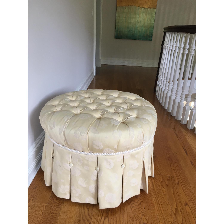 Custom Upholstered Ottoman/Footstool - image-2