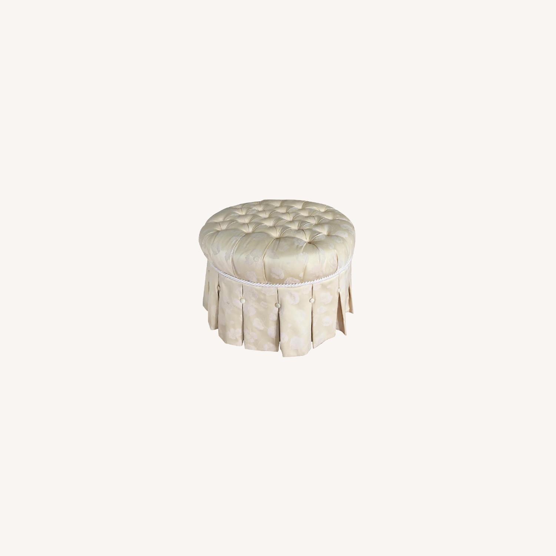 Custom Upholstered Ottoman/Footstool - image-0